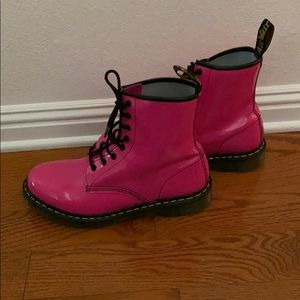 Hot Pink Dr. Martens Women's 10 like NEW
